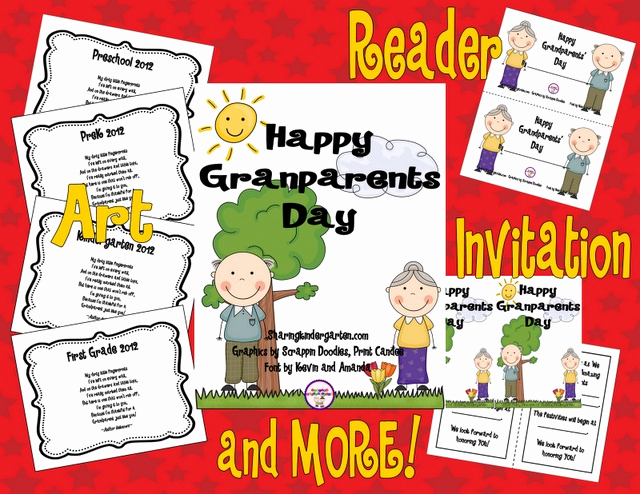 Grandparents Day Invitation Template Unique Grandparents Day Use This Unit to Create Your Own Class