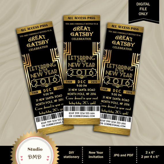 Great Gatsby Invitation Ideas Awesome Great Gatsby Invitation New Year Invitation New by