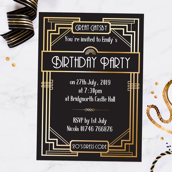 Great Gatsby Invitation Ideas Fresh Great Gatsby Invitations From Dotty About Paper