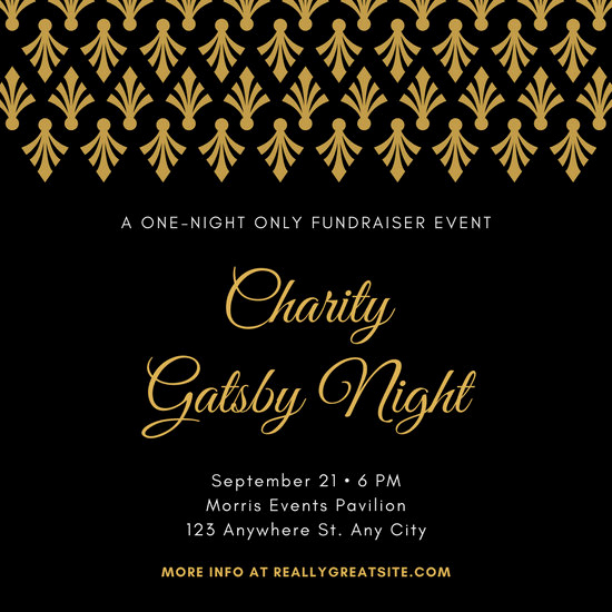 Great Gatsby Invitation Template Awesome Customize 52 Great Gatsby Invitation Templates Online Canva