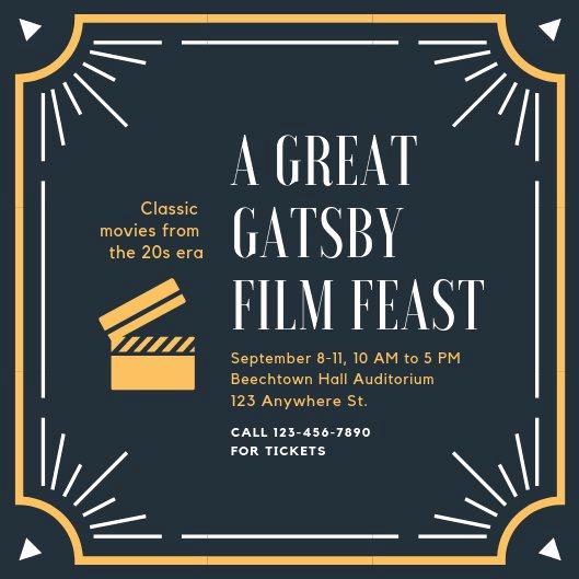 Great Gatsby Invitation Template Elegant Customize 65 Great Gatsby Invitation Templates Online Canva