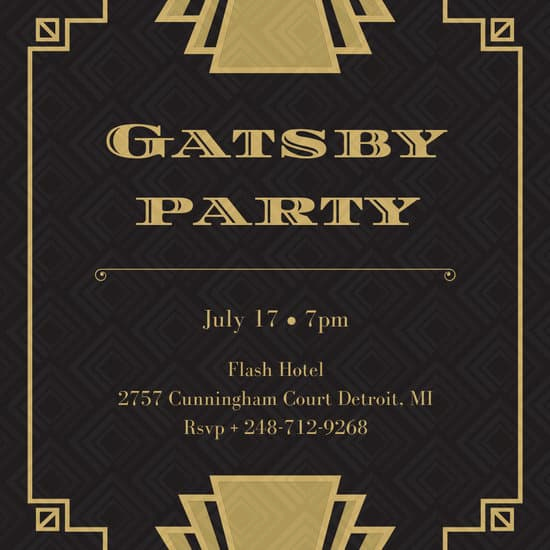 Great Gatsby Invitation Template Fresh Customize 52 Great Gatsby Invitation Templates Online Canva