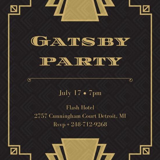 Great Gatsby Invitation Template Fresh Customize 52 Great Gatsby Invitation Templates Online Canva