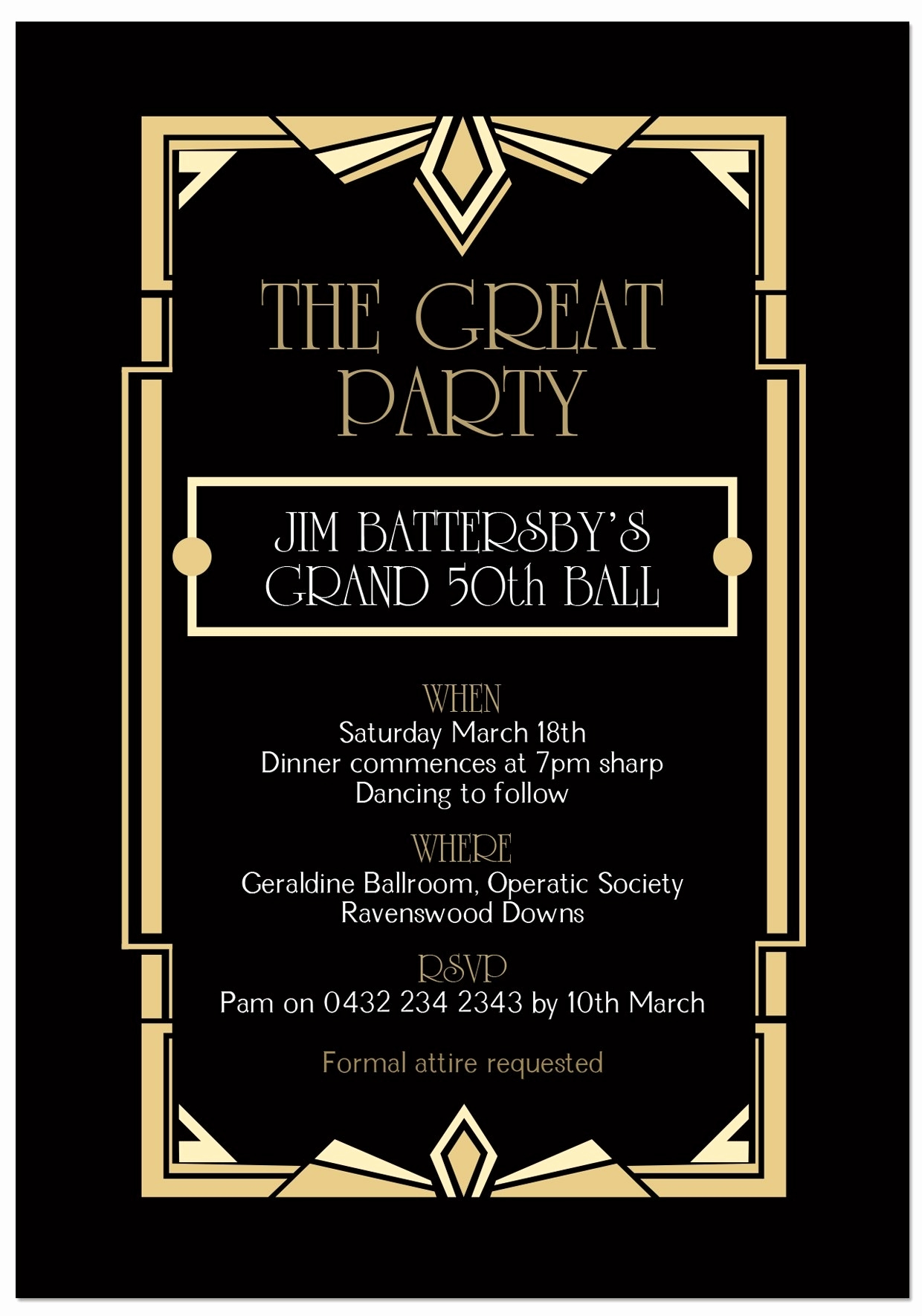 Great Gatsby Invitation Template Fresh Great Gatsby Invitation Template 2018