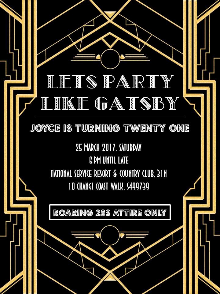 Great Gatsby Invitation Template Fresh Great Gatsby Party Invitation
