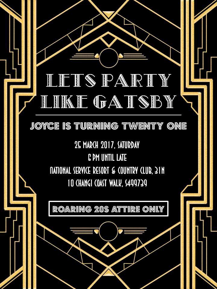 Great Gatsby Invitation Template Fresh Great Gatsby Party Invitation