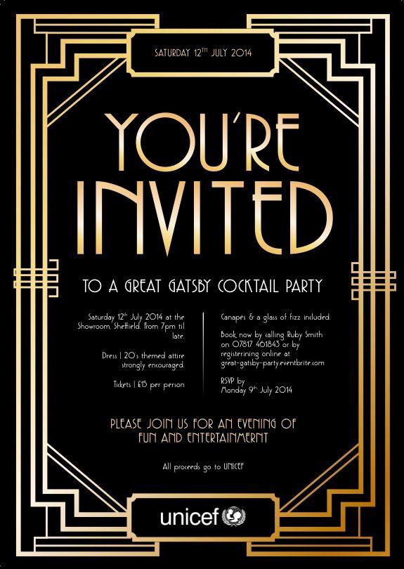 Great Gatsby Invitation Template Fresh Pin by Amanda Turner Krywokulsky On Shhhhh Party