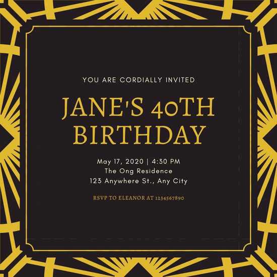 Great Gatsby Invitation Template Lovely Customize 52 Great Gatsby Invitation Templates Online Canva