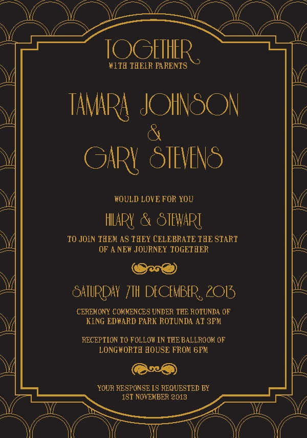 Great Gatsby Invitation Template New 12 Best S Of Harlem Nights Flyer Template Great