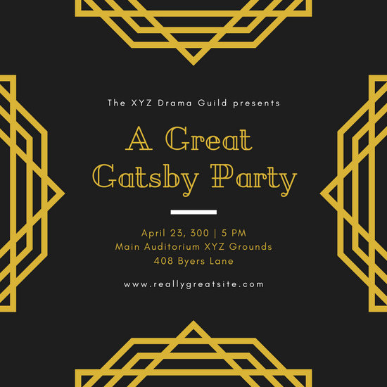 Great Gatsby Invitation Templates Awesome Customize 52 Great Gatsby Invitation Templates Online Canva