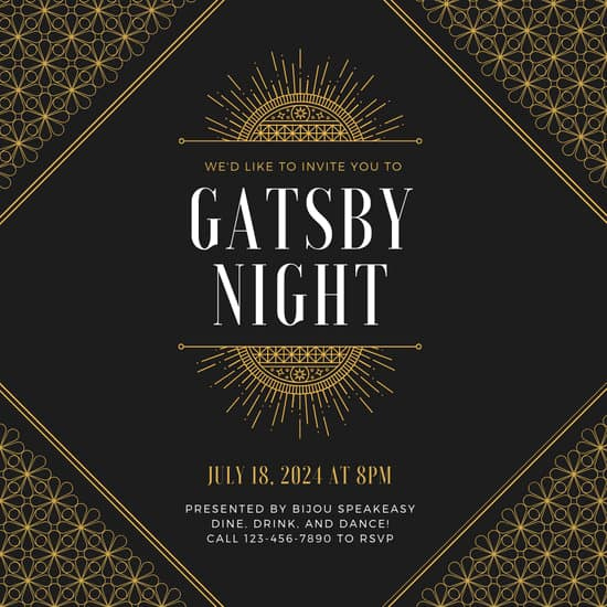 Great Gatsby Invitation Templates Elegant Customize 52 Great Gatsby Invitation Templates Online Canva
