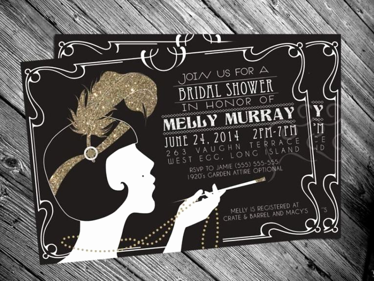 Great Gatsby Invitation Templates Luxury Great Gatsby Invitation Template Free Sampletemplatess