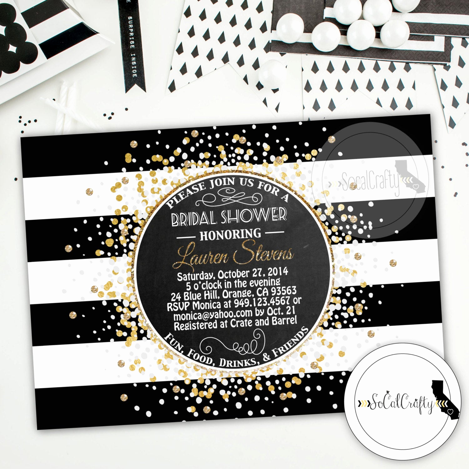 Great Gatsby Invitation Wording Awesome Great Gatsby Bridal Shower Invitation Printable Invitation