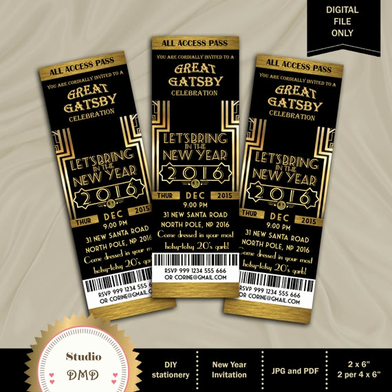 Great Gatsby Invitation Wording Awesome Great Gatsby Invitation New Year Invitation New Year S