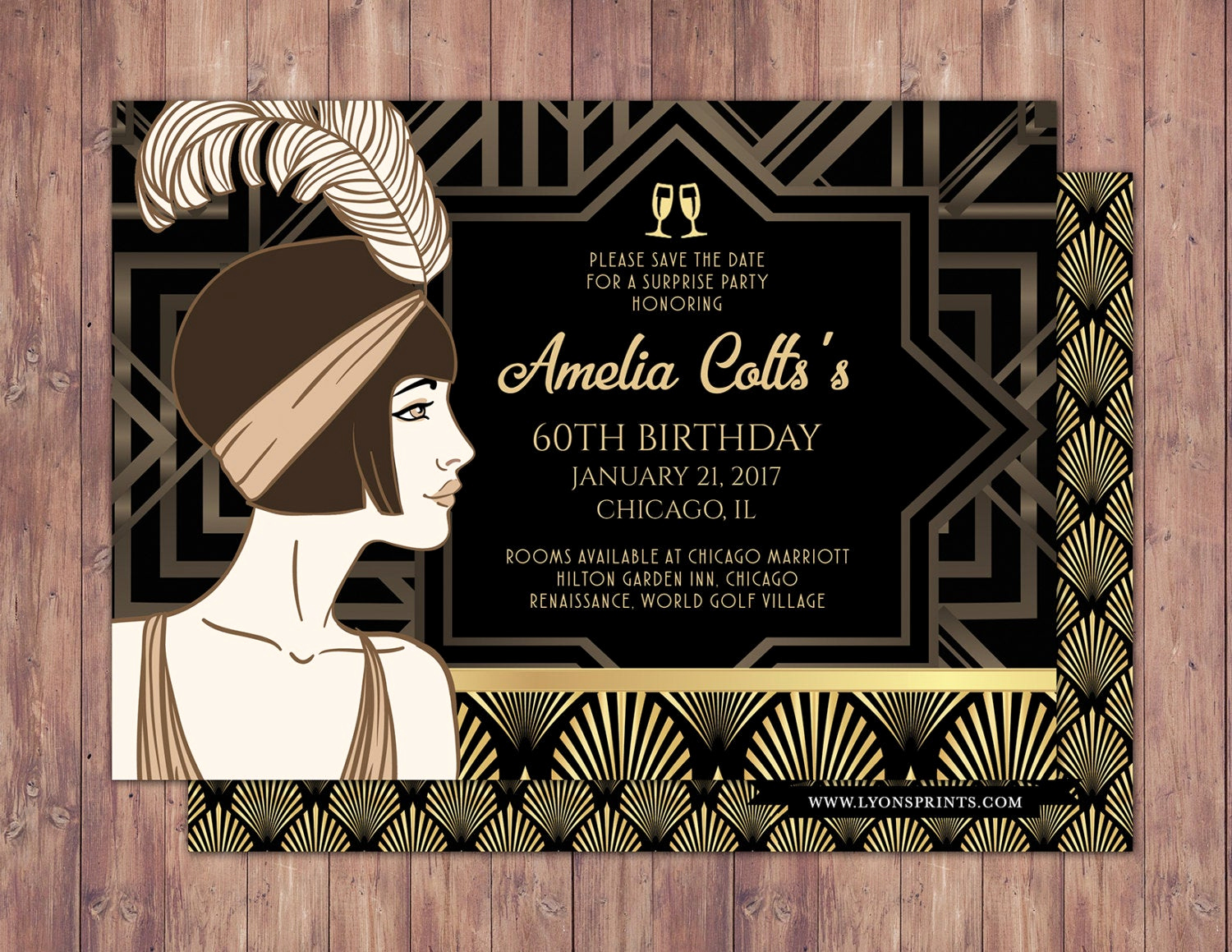Great Gatsby Invitation Wording Elegant Great Gatsby Save the Date Invitation Rsvp Card Roaring