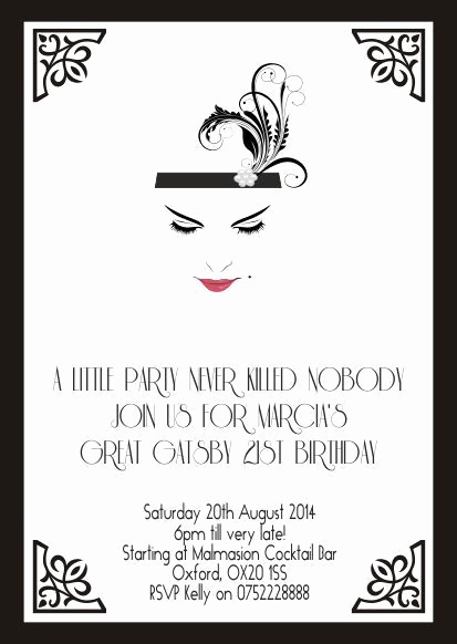 Great Gatsby Invitation Wording Fresh 25 Best Ideas About Great Gatsby Invitation On Pinterest