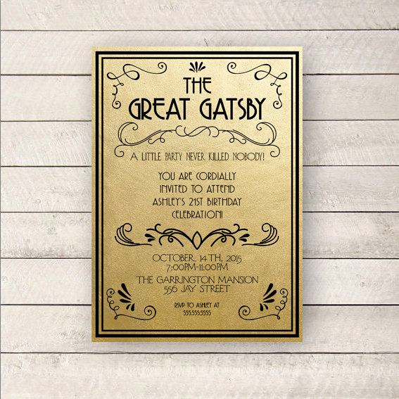 Great Gatsby Invitation Wording New Best 25 Great Gatsby Invitation Ideas On Pinterest