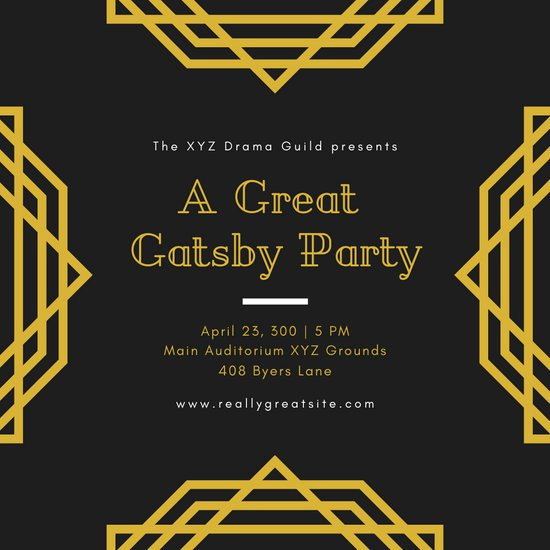 Great Gatsby Party Invitation Templates Elegant Customize 52 Great Gatsby Invitation Templates Online Canva