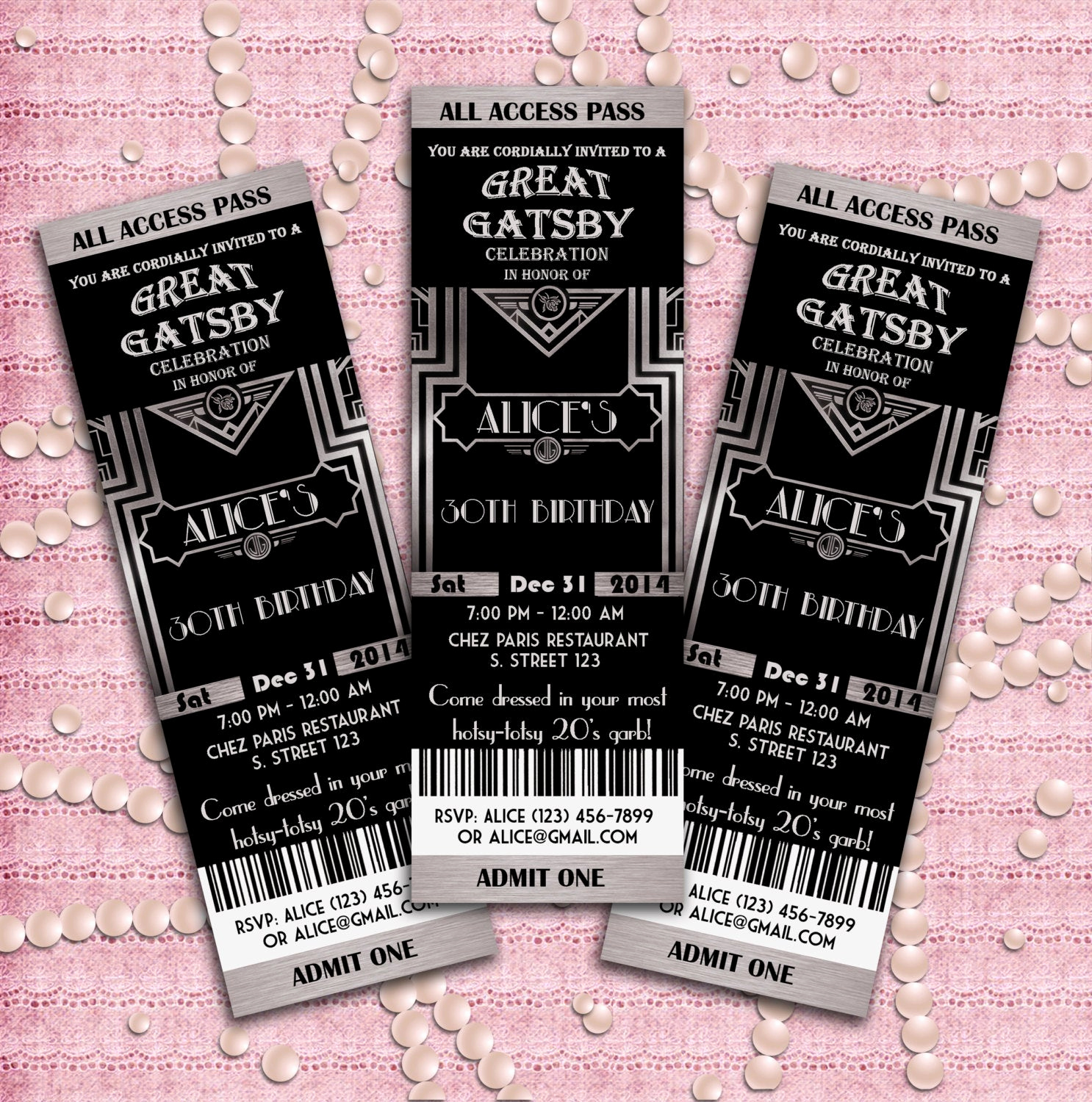 Great Gatsby Party Invitation Templates Fresh Great Gatsby Style Art Deco Party Invitation Prom