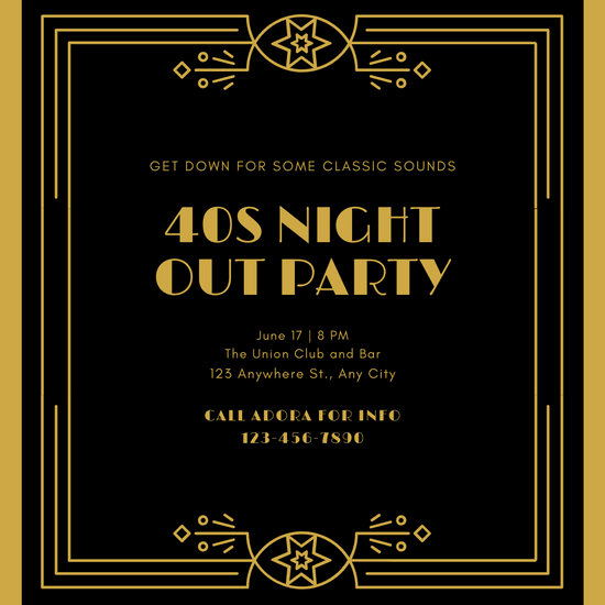 Great Gatsby Party Invitation Templates Lovely Customize 52 Great Gatsby Invitation Templates Online Canva