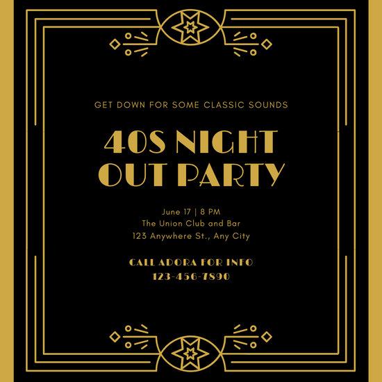 Great Gatsby Party Invitation Templates Lovely Customize 52 Great Gatsby Invitation Templates Online Canva