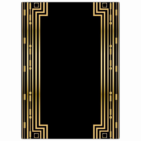 Great Gatsby Party Invitation Templates Luxury Gatsby Gold Wedding Gatefold Invitations Paperstyle