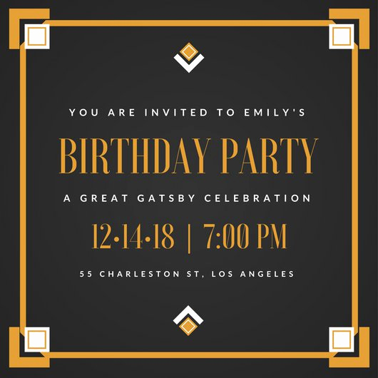 Great Gatsby Party Invitation Templates New Great Gatsby Invitation Templates Canva