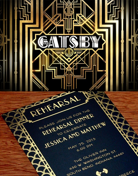 Great Gatsby Prom Invitation Best Of Great Gatsby Inspired Wedding Invitation Design