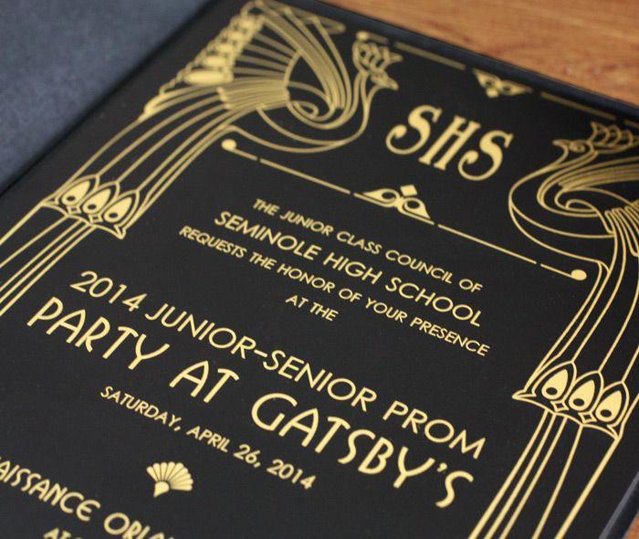 Great Gatsby Prom Invitation Elegant Best 25 Prom Invites Ideas On Pinterest
