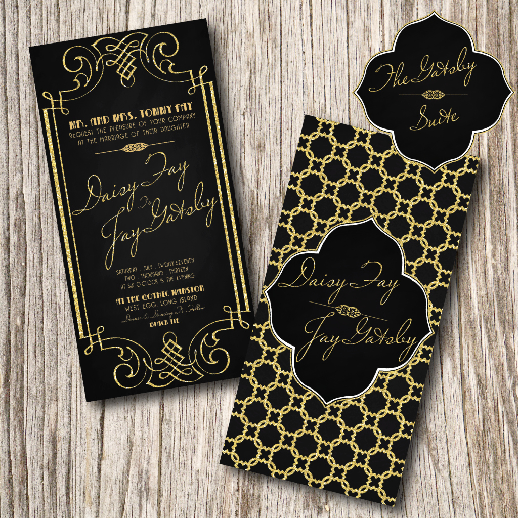 Great Gatsby Prom Invitation New Gatsby Wedding Invitation