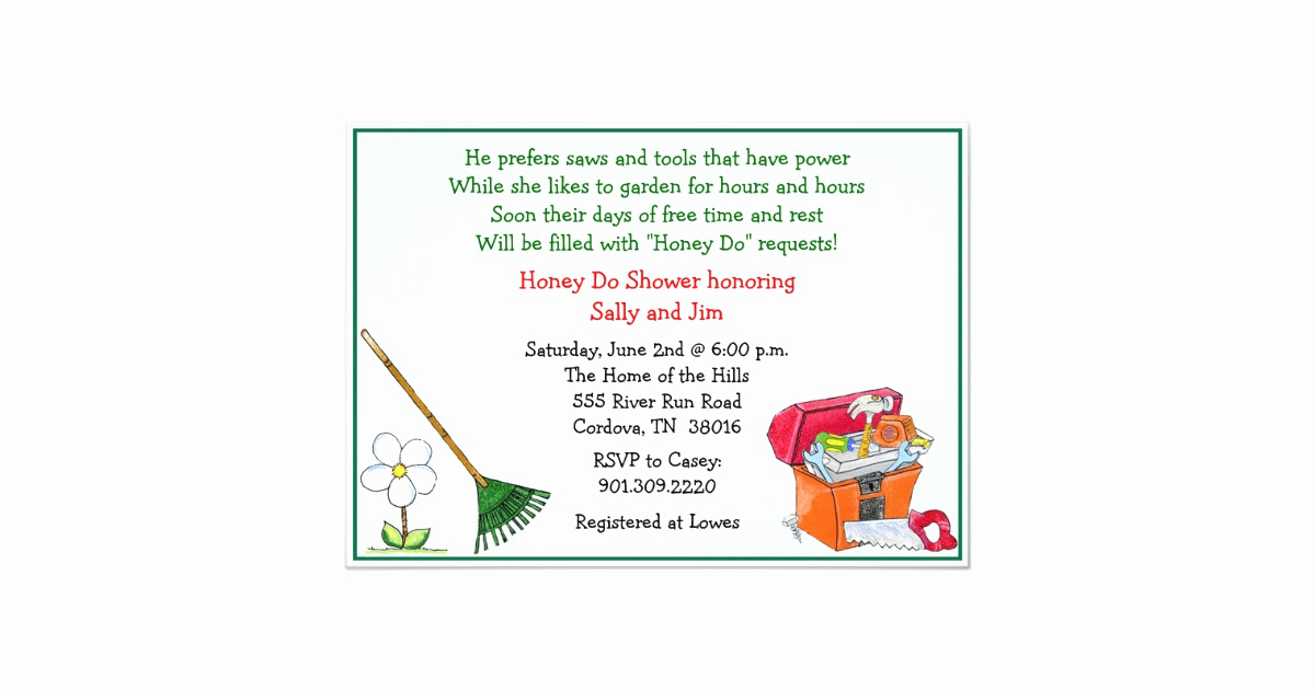 Greenback Shower Invitation Wording Awesome Lawn and Garden Bridal Shower Invitation