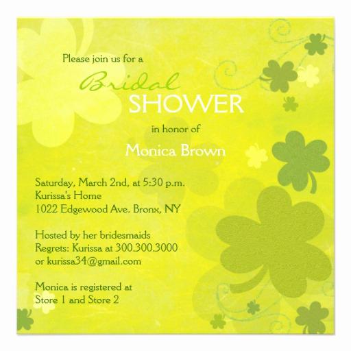 Greenback Shower Invitation Wording Beautiful 227 Irish Bridal Shower Invitations Irish Bridal Shower