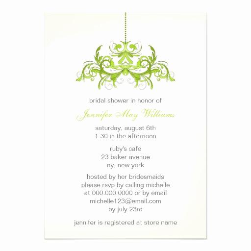 Greenback Shower Invitation Wording Beautiful Green Bridal Shower Invitations