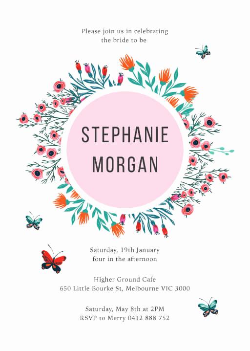 Greenback Shower Invitation Wording Elegant Bridal Shower Invitations & Cards Independent Designs by