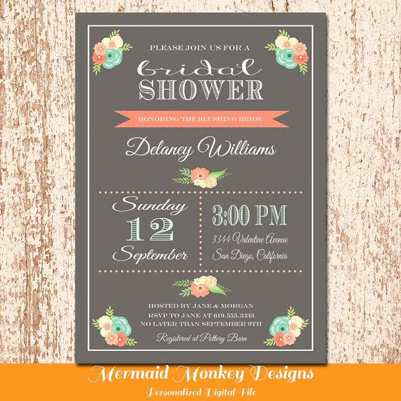 Greenback Shower Invitation Wording New Chalkboard Bridal Shower Invitation Wedding Shower