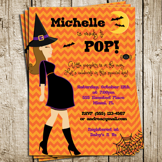 Halloween Baby Shower Invitation Awesome Halloween Baby Shower Digital Printable Invitation