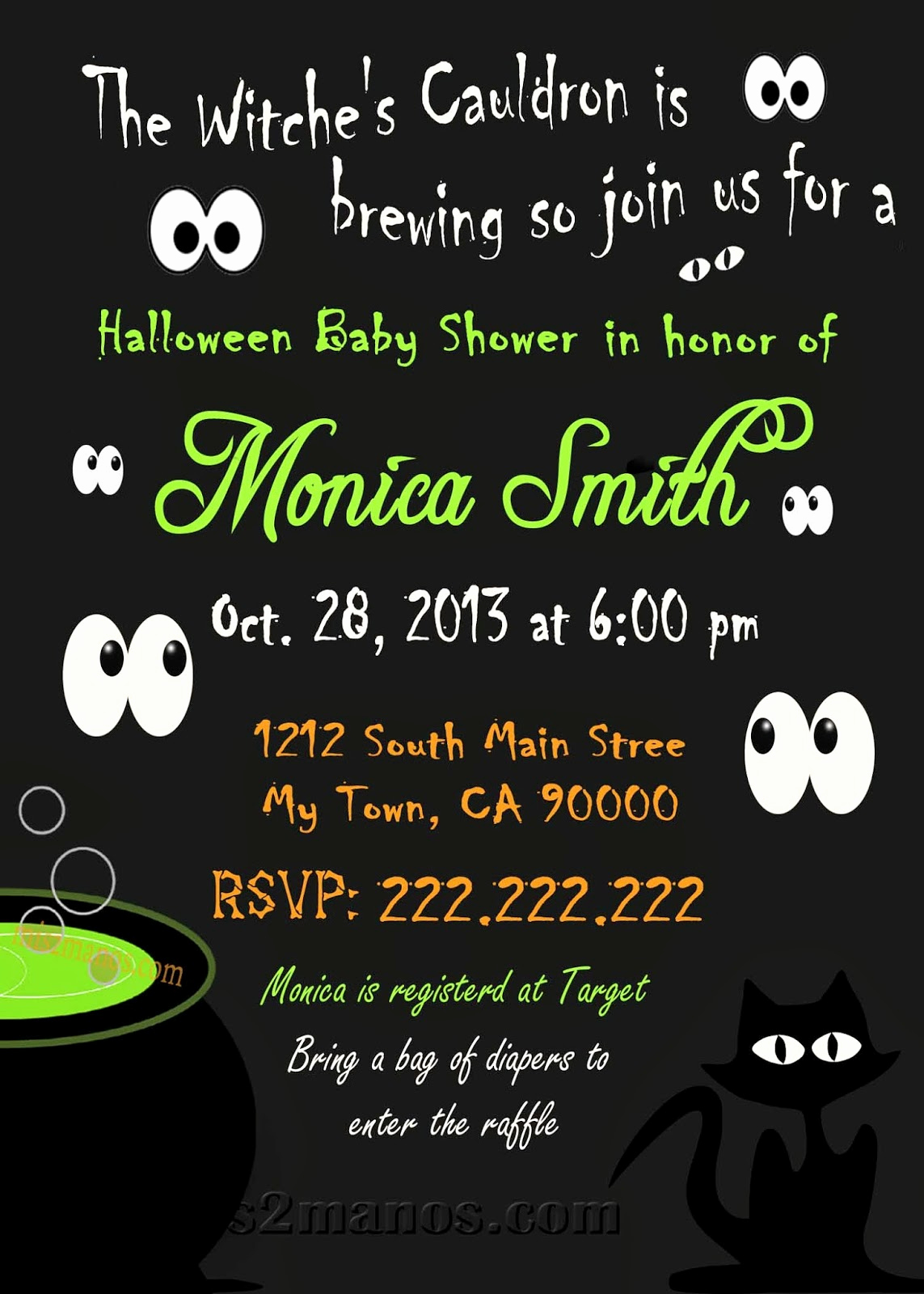 Halloween Baby Shower Invitation Awesome Mis 2 Manos Made by My Hands Halloween Baby Shower
