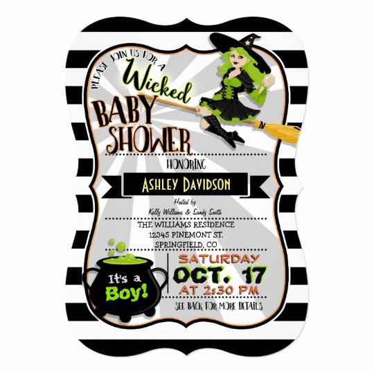 Halloween Baby Shower Invitation Beautiful Halloween theme Witch Baby Shower Invitation