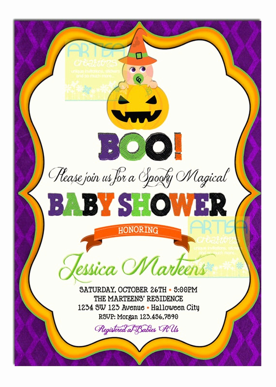 Halloween Baby Shower Invitation Best Of Items Similar to Halloween Baby Shower Invitation Baby