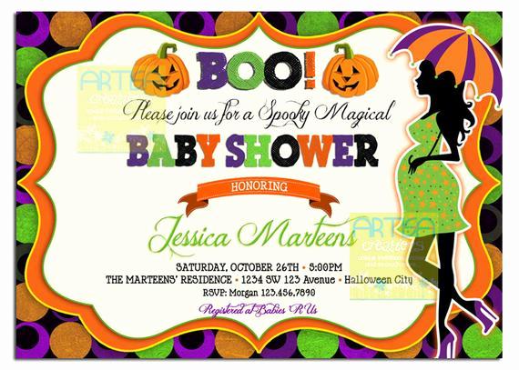 Halloween Baby Shower Invitation Fresh Halloween Baby Shower Invitation Baby Shower Halloween