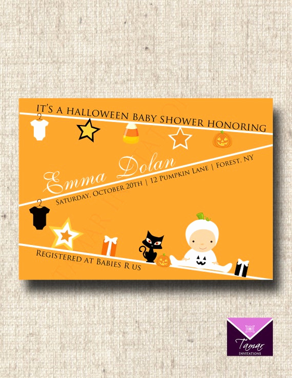 Halloween Baby Shower Invitation Inspirational Items Similar to Printable Halloween Baby Shower