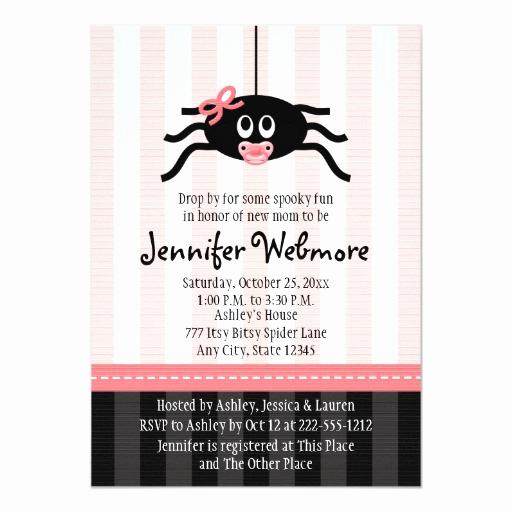Halloween Baby Shower Invitation Inspirational Pink Spider Halloween Baby Shower Invitations