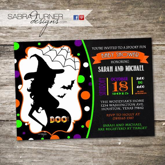 Halloween Baby Shower Invitation Luxury Halloween Baby Shower Invitation Costume Party Baby Shower