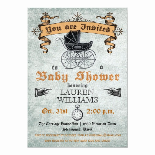 Halloween Baby Shower Invitation Luxury Vintage Baby Shower Invitation