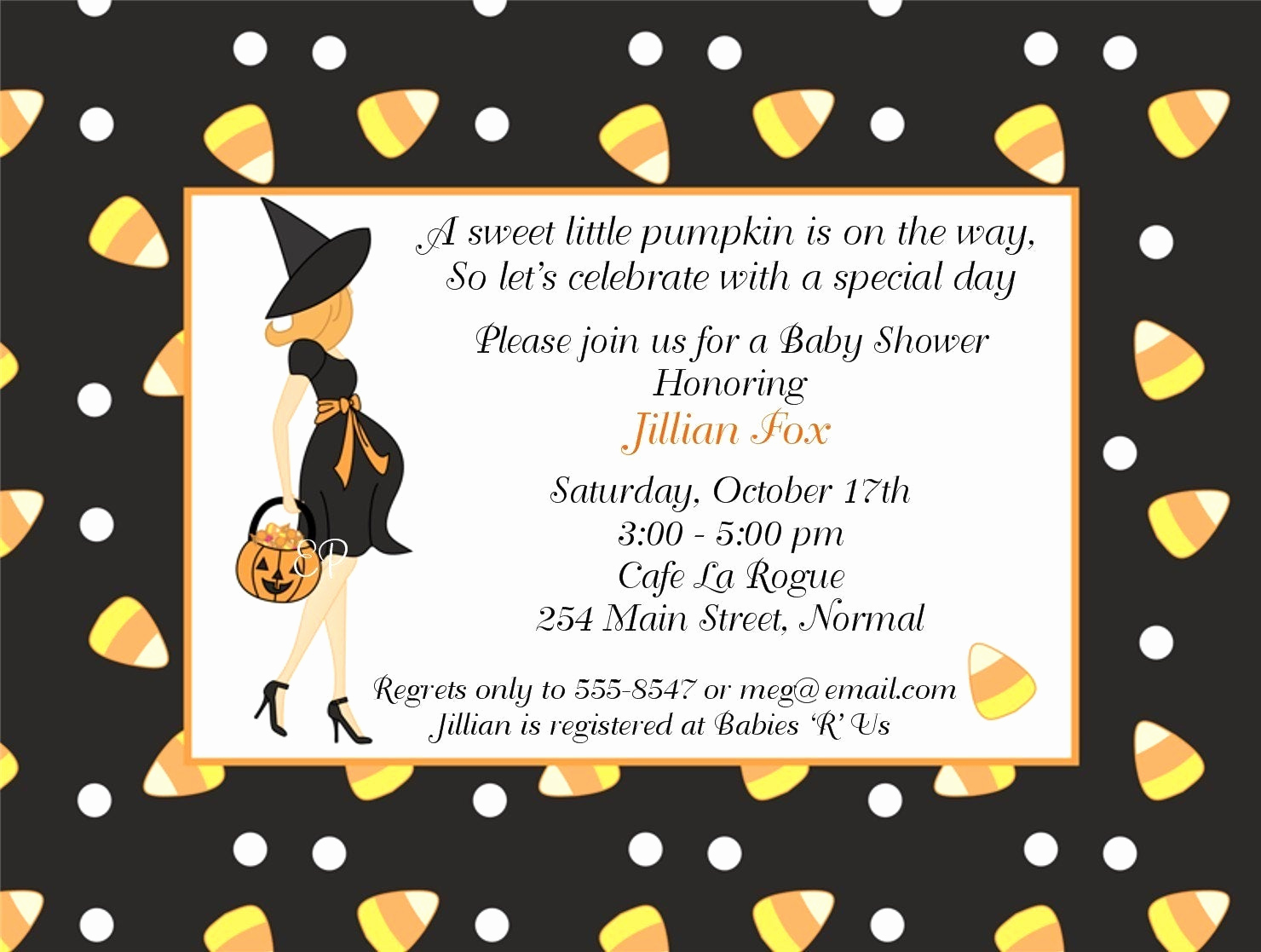 Halloween Baby Shower Invitation New 301 Moved Permanently