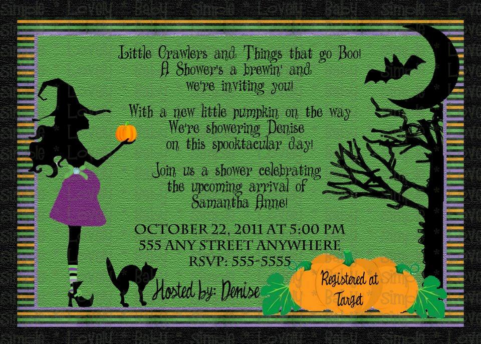 Halloween Baby Shower Invitation New Halloween Baby Shower Invitation