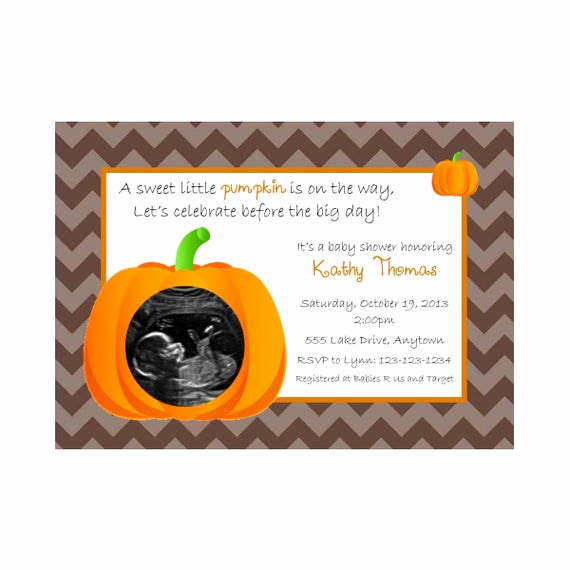 Halloween Baby Shower Invitation New Items Similar to Halloween Pumpkin Baby Shower Invitation