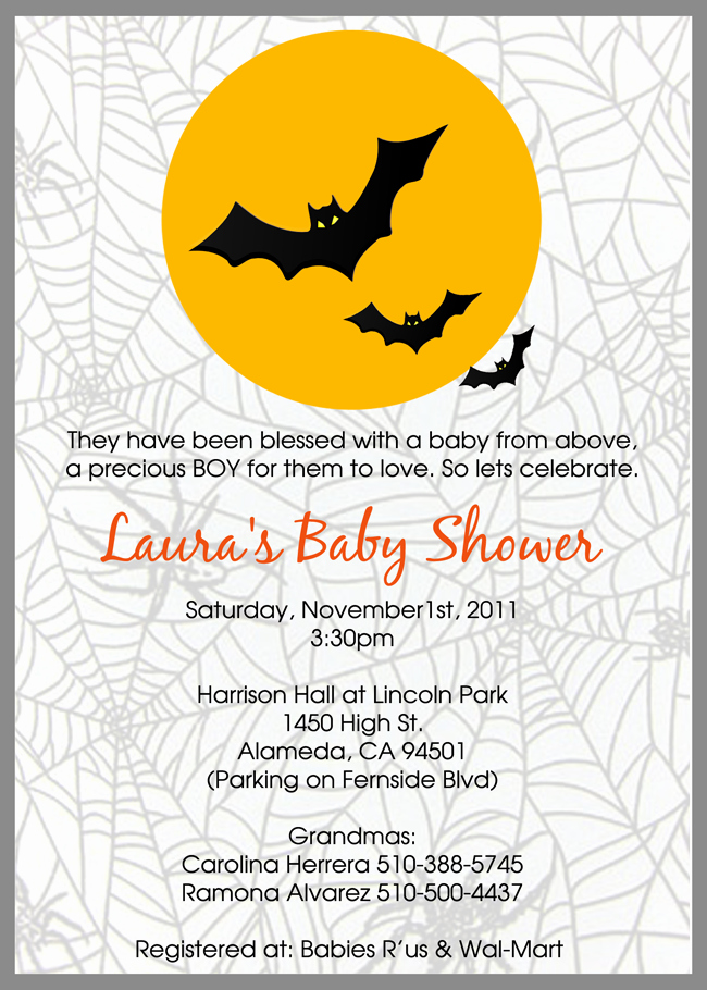 Halloween Baby Shower Invitation New Template Halloween Baby Shower Invitations Free Halloween