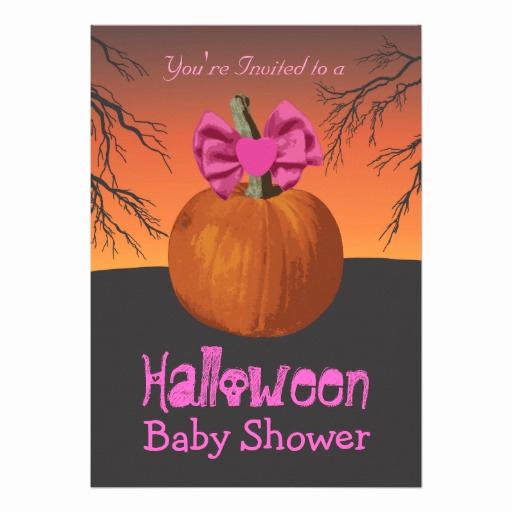 """Halloween Baby Shower Invitation Unique Girls Halloween Baby Shower Invitations 5"""" X 7"""" Invitation"""