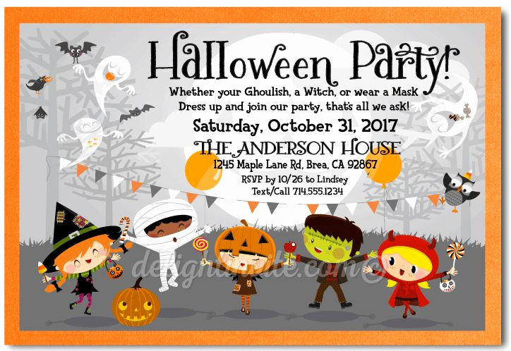 Halloween Costume Party Invitation Elegant 1000 Ideas About Halloween Invitations Kids On Pinterest